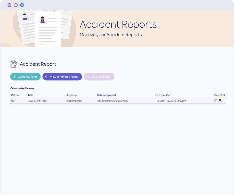 Protecting accident reports