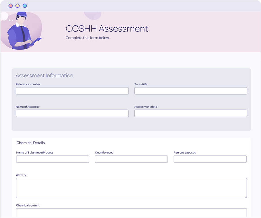 Protecting COSHH assessment